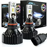 JDM ASTAR Newest Version G4 8000 Lumens Extremely Bright AEC Chips 9005 All-in-One LED Headlight Bulbs Conversion Kit, Xenon White