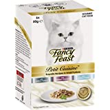 Fancy Feast Petit Cuisine Turkey, Chicken & Tuna Wet Cat Food, 6x50g