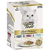 Fancy Feast Petit Cuisine Turkey, Chicken & Tuna Wet Cat Food, Adult, 6x50g