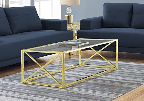 Monarch Specialties COFFEE TABLE, GOLD