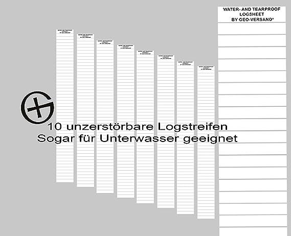 Petlinge aus Kunststoffpapier Geocaching Logbücher 50 x WASSERFESTES Logbuch f