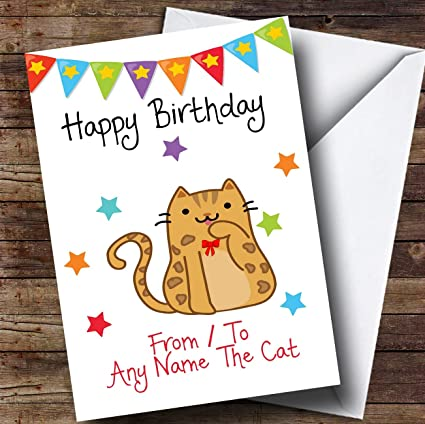 A de mascota gato Bengala personalizado tarjeta de ...