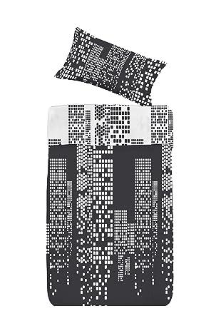 Dormir Happy Saco Nórdico con Relleno Ref. City Negro .Disponible Varios tamaños, para Cama de 90 cm y de 105 cm. (Cama 90 CM.): Amazon.es: Hogar