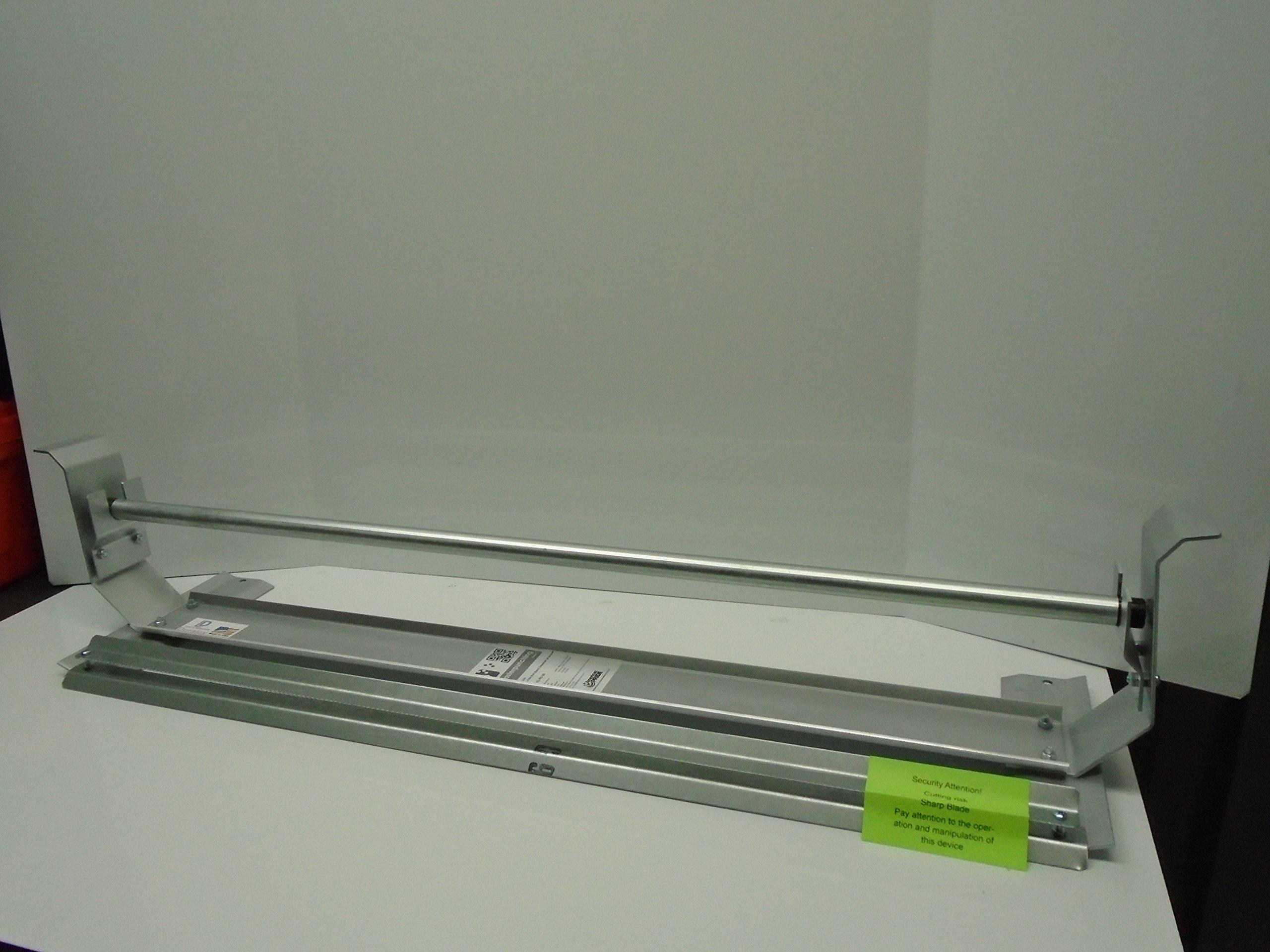 Paper Cutter Roll Dispenser Econoline 60 inches table mount Kraft paper Duralov by Duralov (Image #3)