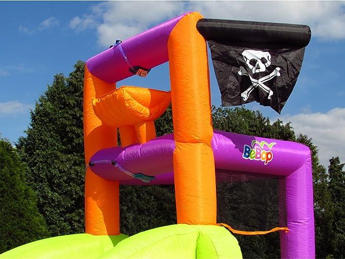 BeBop Barco Pirata Inflable tobogán de Agua Inflable y Piscina para niños: Amazon.es: Juguetes y juegos