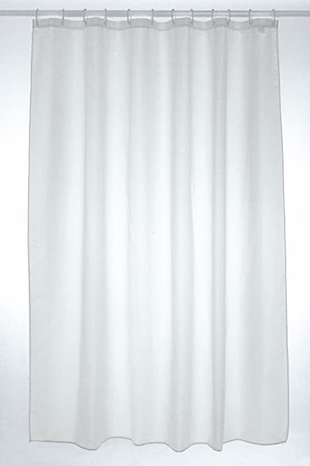300x 200cm Extra Wide Shower Curtain White: Amazon.co.uk: Kitchen ...
