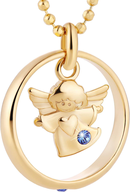 Collar para niña de Fish, bañado en plata y oro, con cadena para bautizo, paquete de regalo, regalo para bautizo