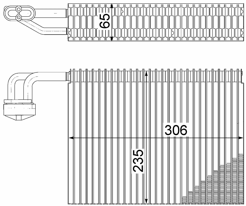 air conditioning BEHR HELLA SERVICE 8FV 351 211-311 PREMIUM LINE Evaporator