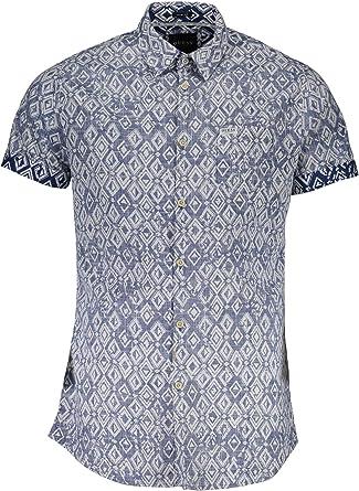 Guess - Camisa casual - para hombre Blu Ph74 S: Amazon.es ...