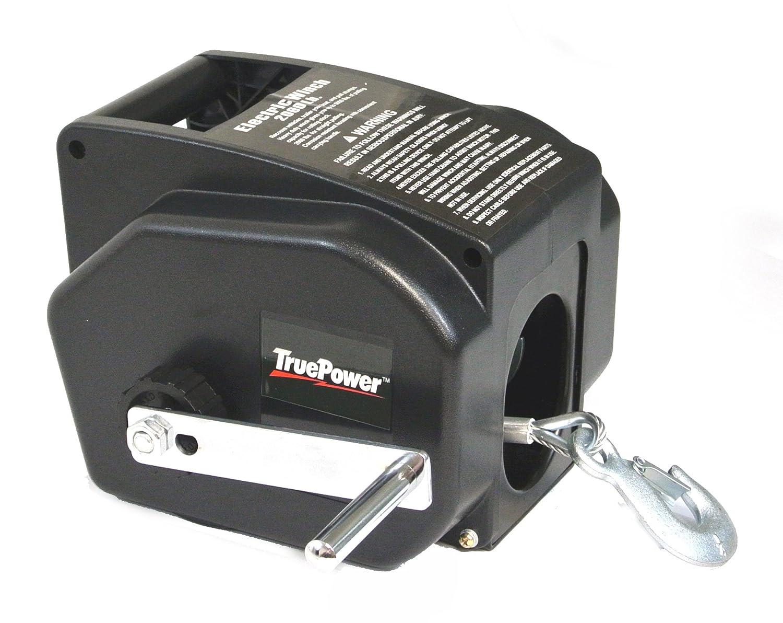 Truepower 40 4003 12v Dc Portable Winch With Wireless 12 Volt Remote Control Wiring Diagram 2000 Lb Line 5000 Boat Automotive