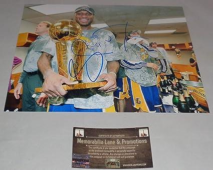 527a06d6715f Lamar Odom LAKERS Autographed 8x10 COA Memorabilia Lane   Promotions ...