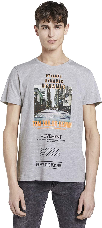 TOM TAILOR Denim Fotoprint Camiseta para Hombre: Amazon.es: Ropa y accesorios