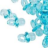 100claro azul Mini dekos chnu ller–2cm–Chupete para la Baby Party o como colgante–Chupete de bebé de acrílico–Kleenes sueño Comercio®