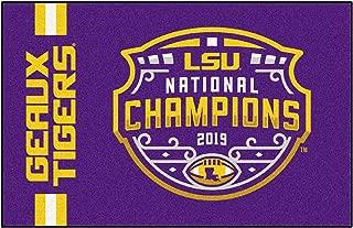 "product image for FANMATS NCAA LSU Tigers 2019-20 College Football National ChampionsLouisiana State University, Purple, 19""x30"""