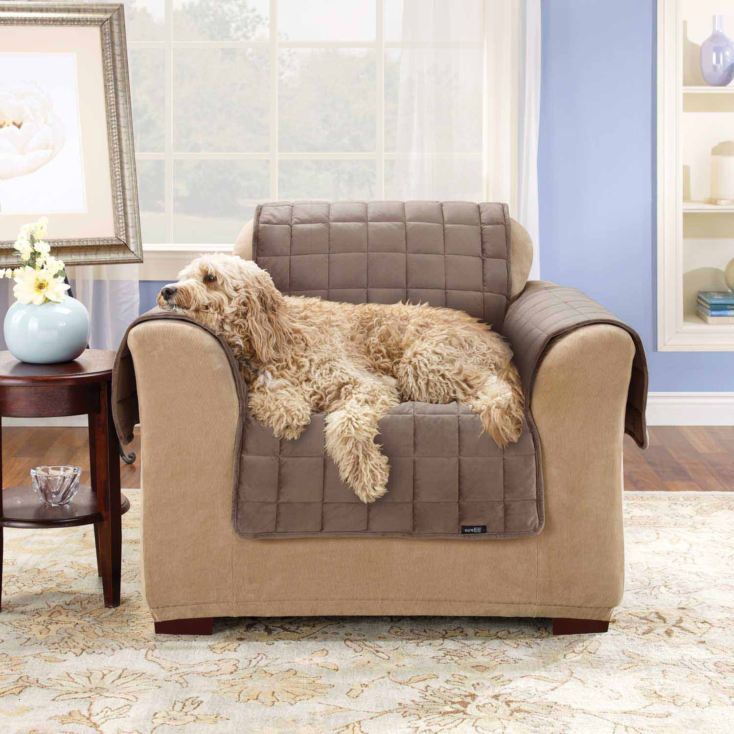 Amazon Sure Fit Deluxe Pet Cover Sofa Slipcover Ivory