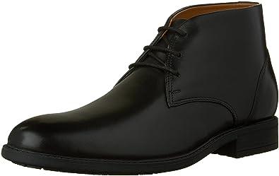 CLARKS Men's Truxton Top Chukka Boot, Black, ...