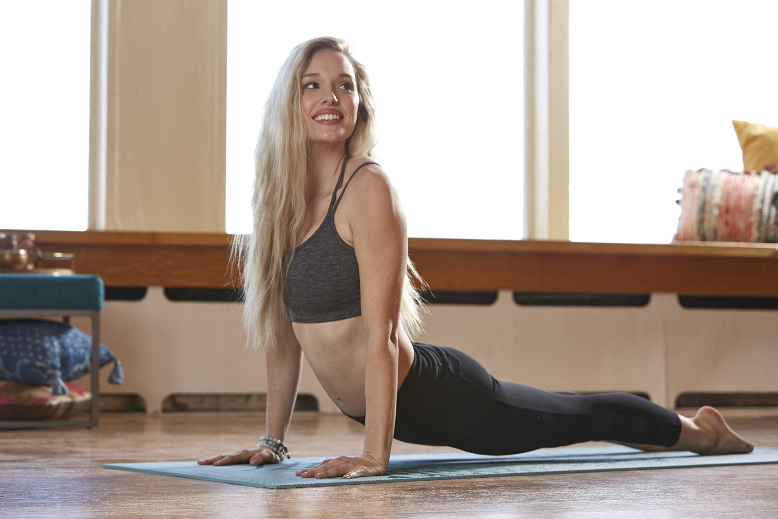 Gaiam Yoga Mat Premium Print Extra Thick Non Slip Exercise