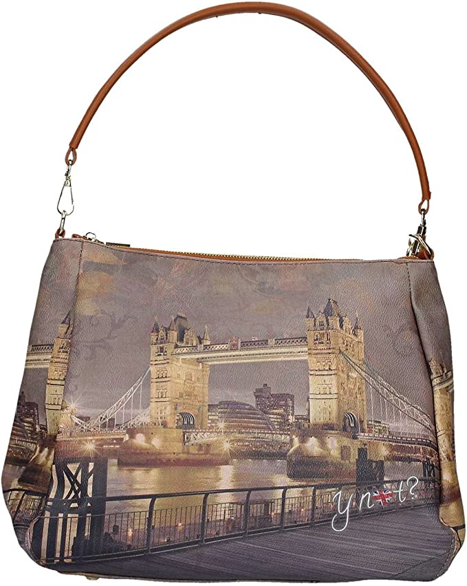 Borsa Shoulder Bag M Dark Tan Gold YLON Golden Bridge I