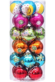 sea team 60mm236 shatterproof colorful painting glittering christmas balls decorative hanging christmas - Red And Turquoise Christmas Decorations