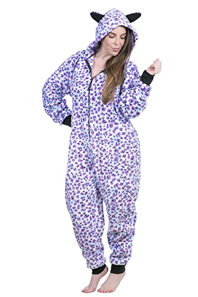 6a25796c23 Totally Pink! Women s Plus Size Warm and Cozy Plush Adult Onesie Pajamas  Onesies