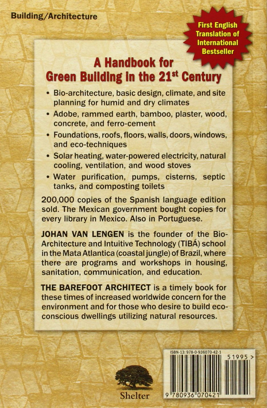 Buy The Barefoot Architect: A Handbook for Green Building Book Online at  Low Prices in India | The Barefoot Architect: A Handbook for Green Building  Reviews ...