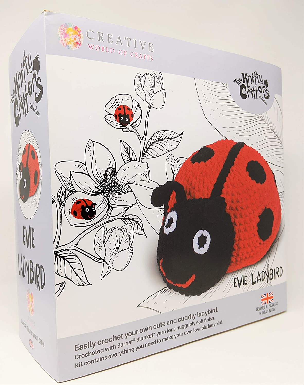 Knitty Critters Animal Collection Evie Ladybird