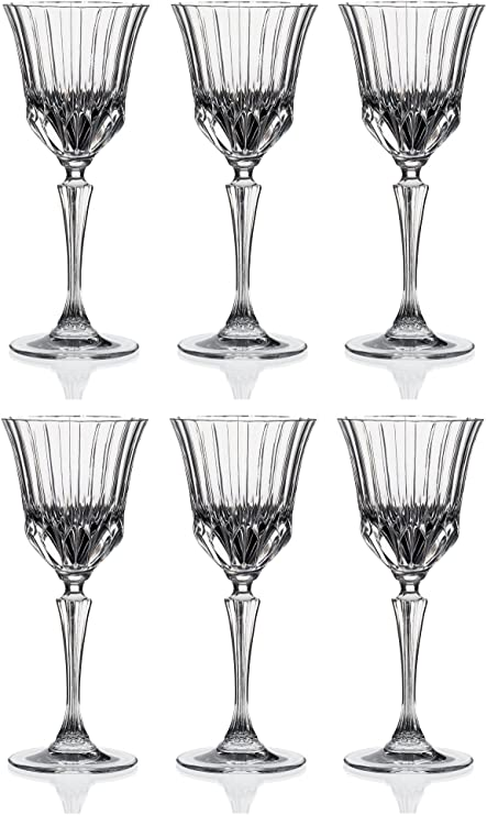 610011905a0 RCR Crystal Adagio Red Wine Glasses - 280ml (9.5oz) - Set of 6   Amazon.co.uk  Kitchen   Home