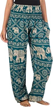 Lofbaz Women's Flower Elephant Printed Boho Pants