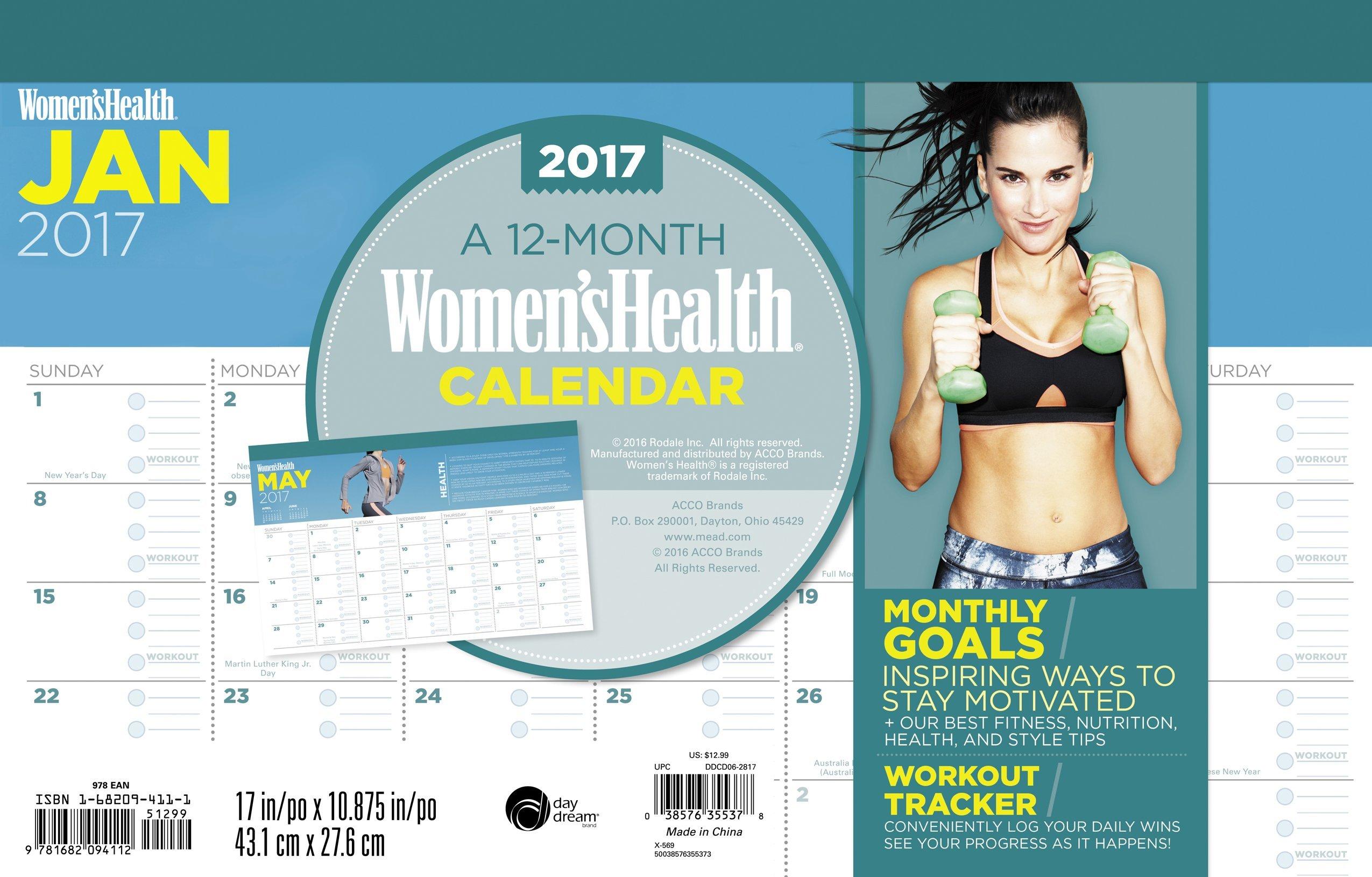 Women's Health Deskpad Calendar (2017)