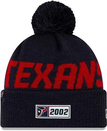 New Era Knit Beanie Onfield 2019 Road Houston Texans schwarz