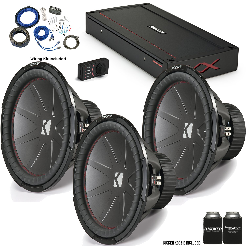 "Amazon.com: Kicker 43CWR152 15"" CompR Subwoofers with 44KXA24001 KX ..."