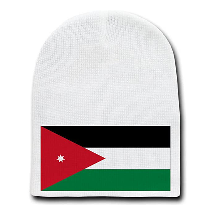 b173bf86d0f2 Image Unavailable. Image not available for. Color  Jordan - World Country  National Flags - White Beanie Skull Cap Hat