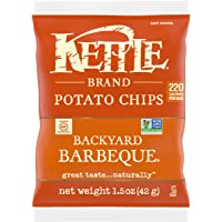 Kettle Brand Potato Chips, Backyard Barbeque, Single-Serve 1.5 Ounce Bags (Pack of 24)