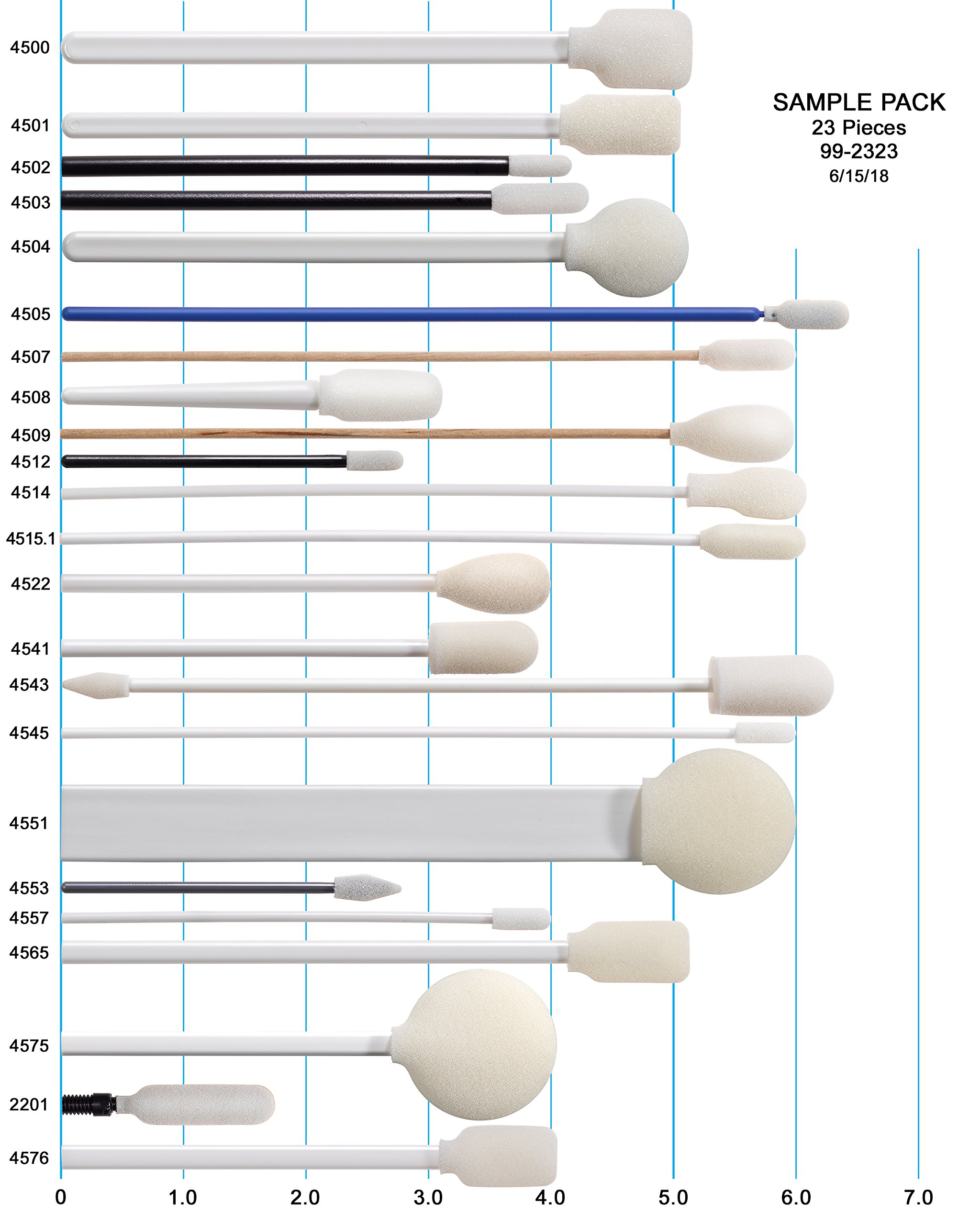 Mixed Bag of Best Selling Foam Swabs by Swab-its - All Shapes and Sizes Included by SWAB-ITS