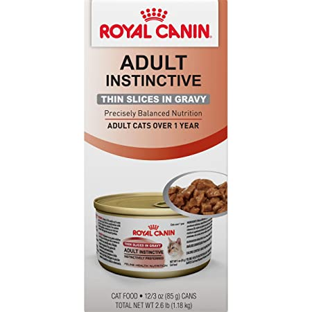 Amazon.com : Royal Canin Feline Health Nutrition Adult instinctive Thin Slices In Gravy Canned Cat Food (12 Pack), 3 oz : Pet Supplies