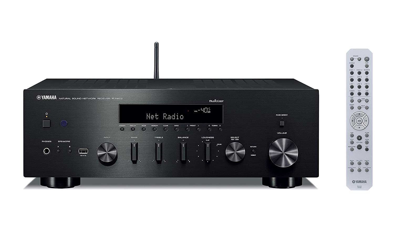 Amazon.com: Yamaha R-N602 AV Receiver (Black), Works with Alexa ...