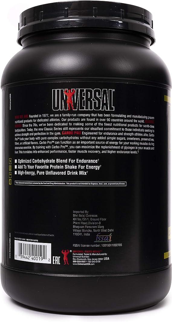 Universal Nutrition Carbo Plus 1 unidad 1000 g: Amazon.es ...