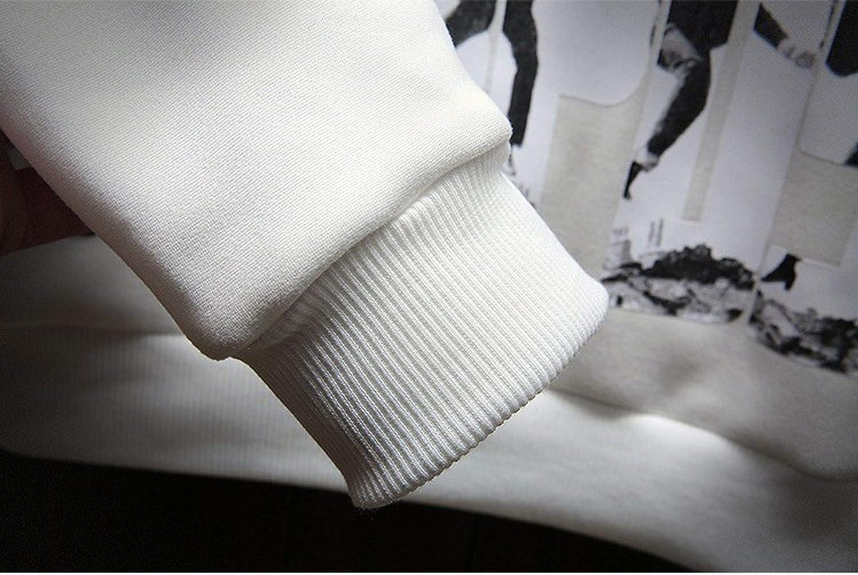 Winter Hoodies Men Sweatshirts O-Neck Pullover Casual Homme Harajuku Fashion Sweatshirts,Khaki,XXXL
