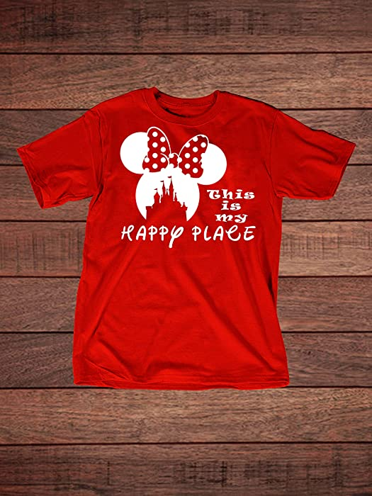 Disney Minnie Mouse Ears & Castle - This is My Happy Place Adult T-Shirt