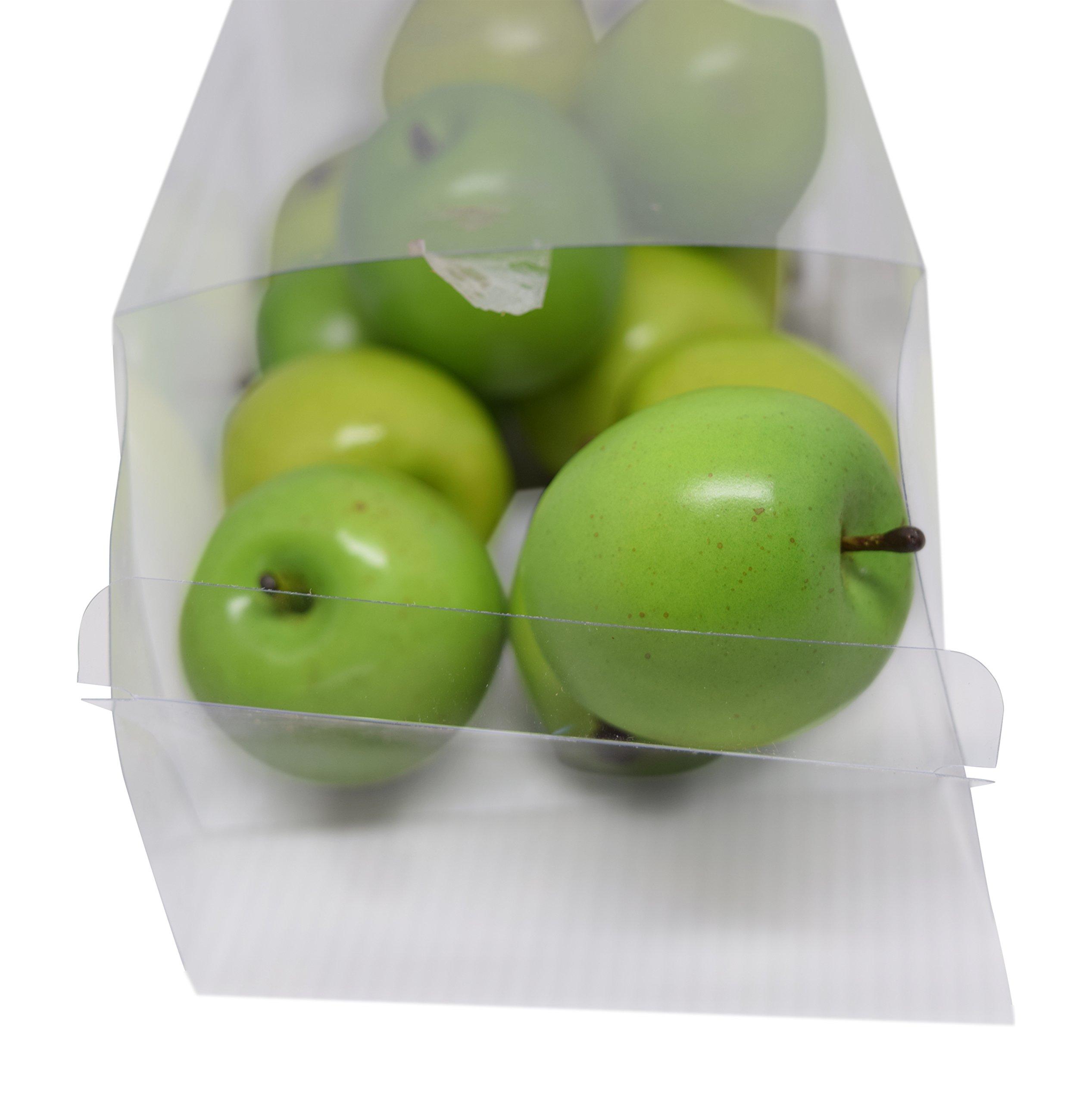 Florabunda-12-Piece-Mini-Decorative-Fruit-Green-Apple