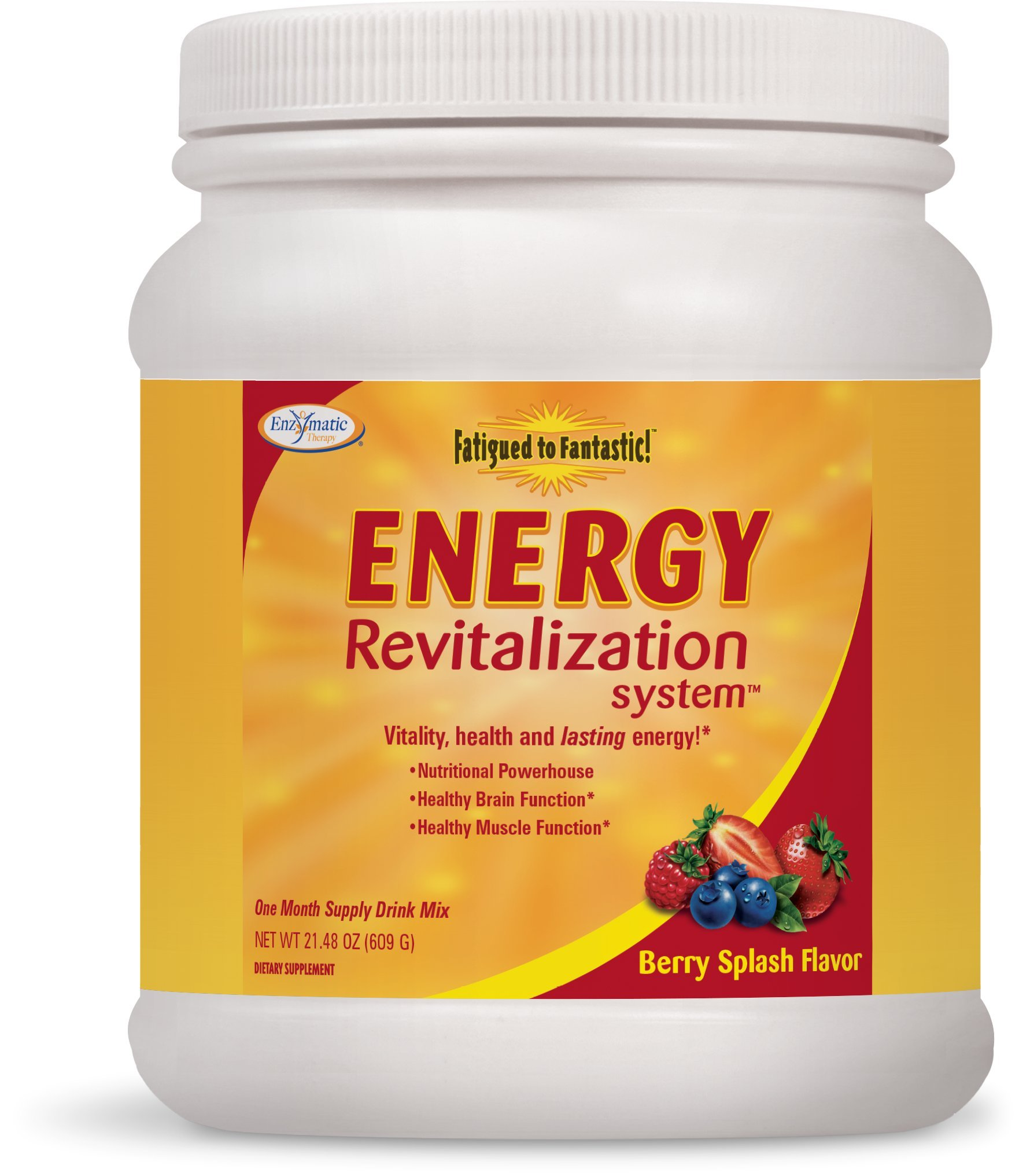 Enzymatic Therapy Fatigued to Fantastic! Energy Revitalization System Berry Splash Flavored by Enzymatic Therapy