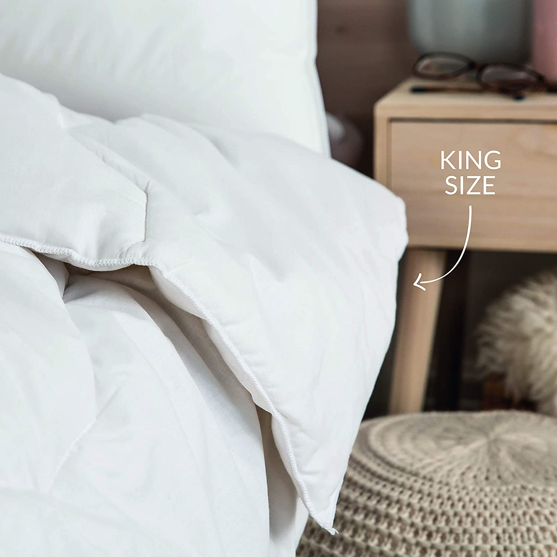 Slumberdown Couette hypoallerg/énique Simple Blanc