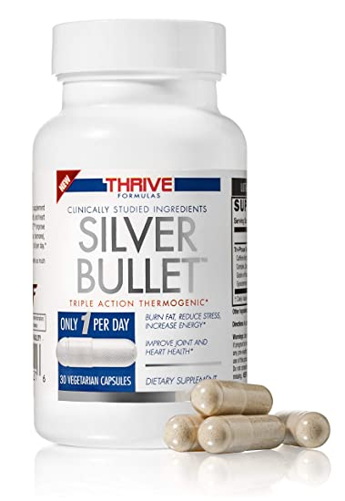 Thrive Formulas Silver Bullet Triple Action Thermogenic Fat Burner 30 Vegetarian Capsules Only 1