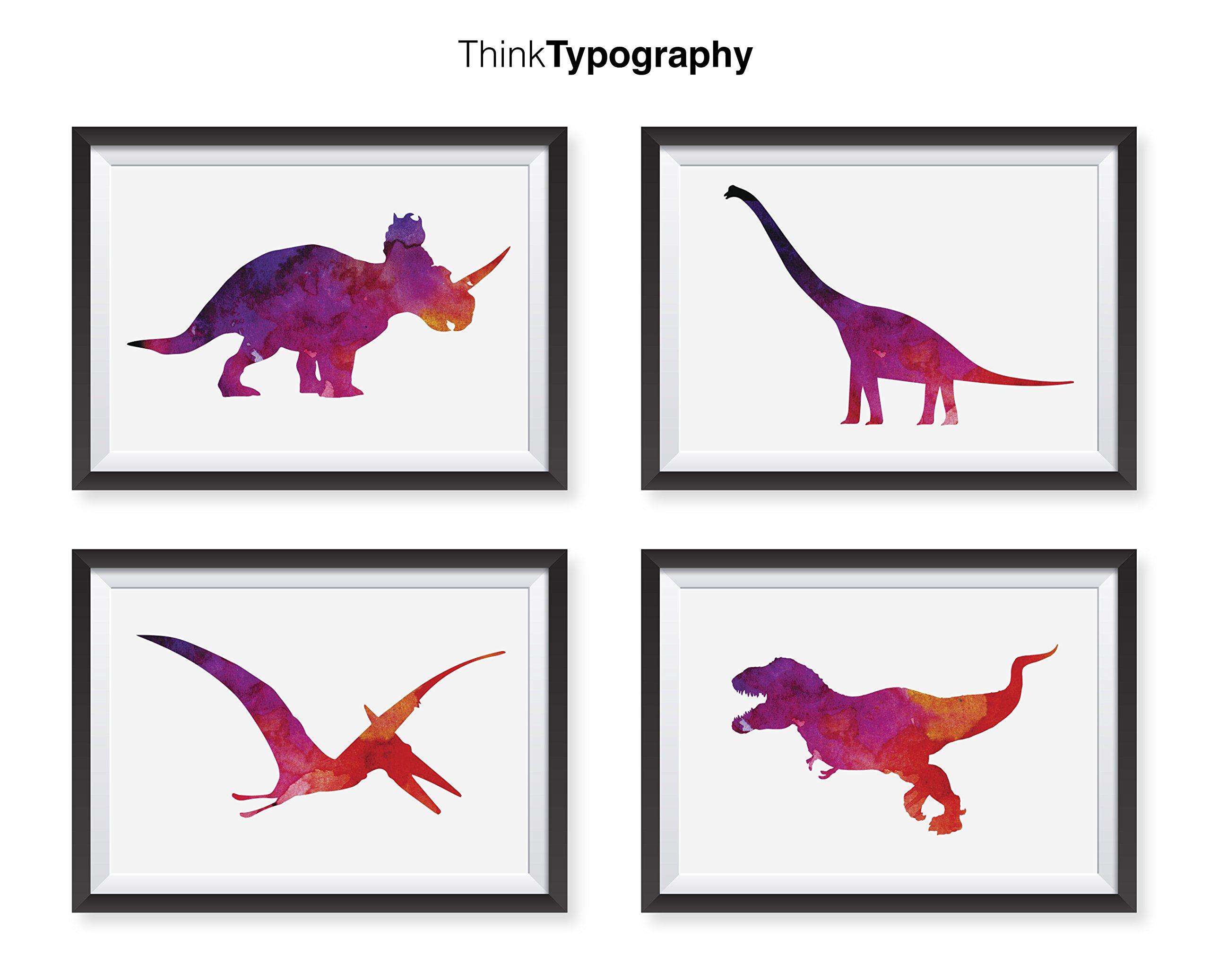 Dinosaurs Pink Frames, Nursery Art Print, Minimalist Poster, Home Decor, College Dorm Room Decorations, Wall Art