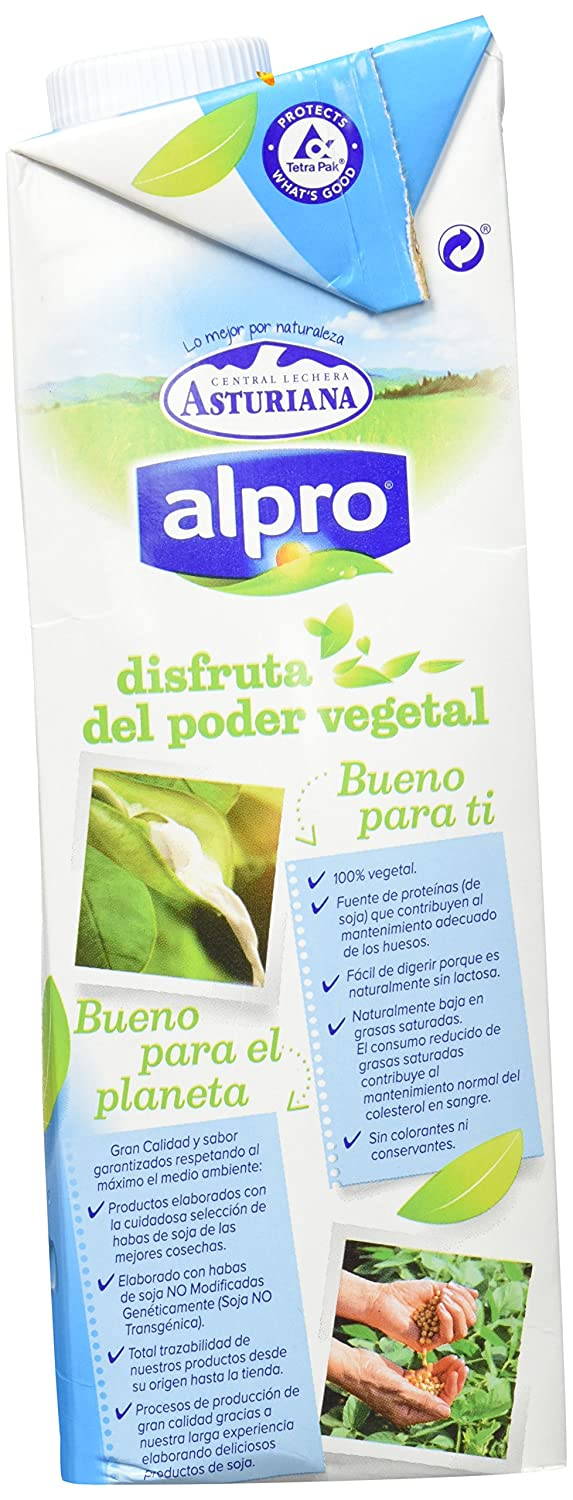 Central Lechera Asturiana Alpro Bebida de Soja Calcio - 1 l: Amazon.es: Amazon Pantry