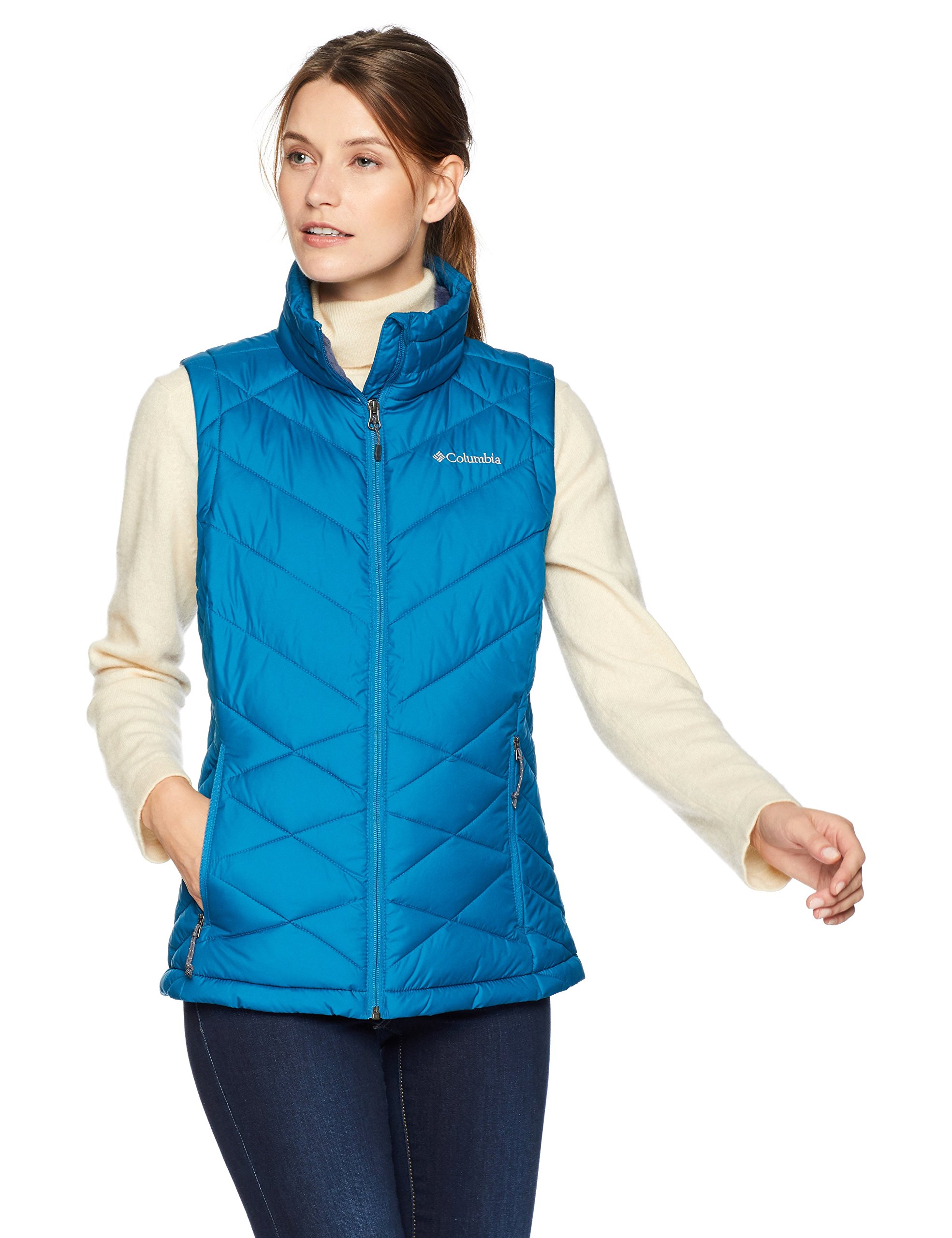 Columbia Women's Standard Heavenly Vest, Lagoon, X-Small by Columbia