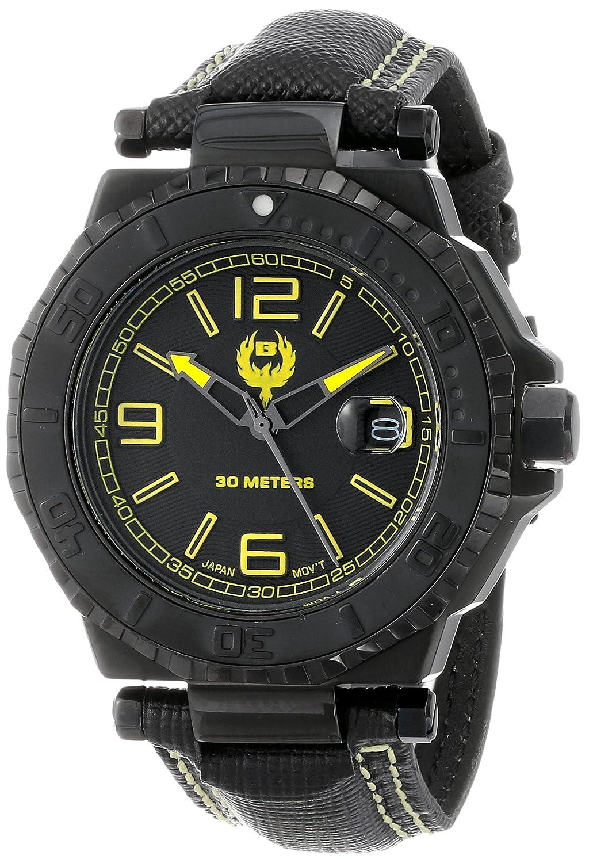 Brillier Herren 25-01 Hype 44mm Black PVD Plated Stainless Steel Date Function Armbanduhr
