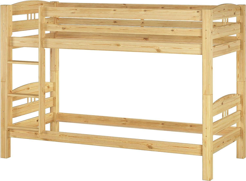 materassi e Due cassetti 60.10-09 M S2 Erst-Holz Letto a Castello 90x200 in Pino con Assi di Legno