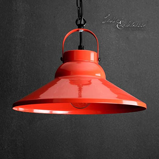 Dekorative Hangeleuchte In Rot Industrie Design 1x E27 Bis Zu 60