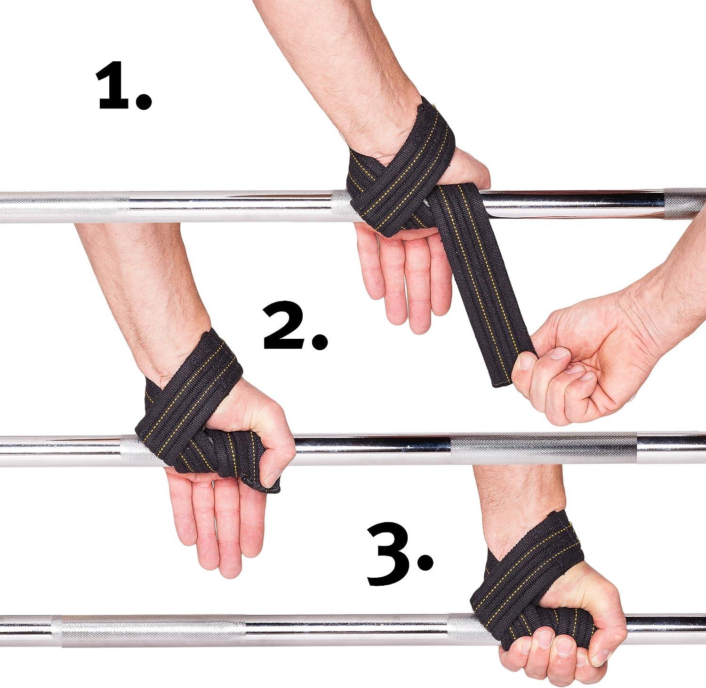 perfekt für  schwere Trainingseinheiten GASP Power Wrist Straps Zughilfen